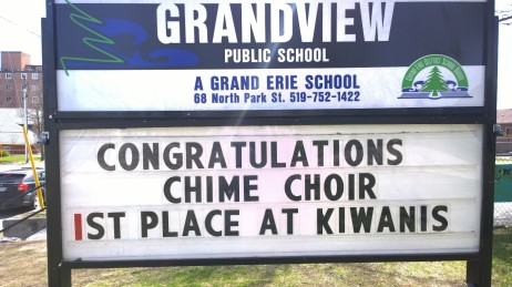 congrats chime choir